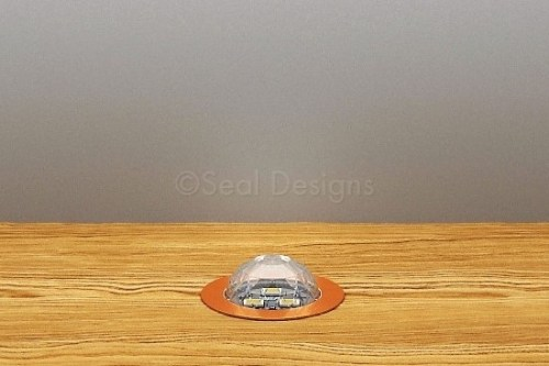 10 x 30mm Crystal Dome Kit – White – Copper Bezel