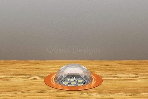 10 x 45mm Crystal Dome Kit – White – Copper Bezel