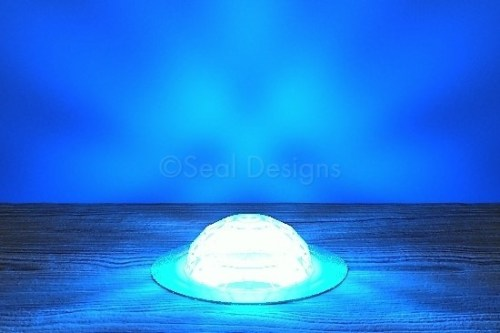 10 x 45mm Crystal Dome Kit – Blue – Copper Bezel