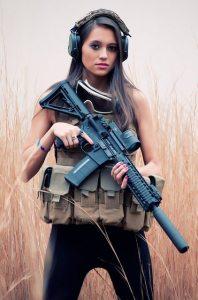 hot girl AR15 babe