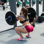 crossfit girls front squat