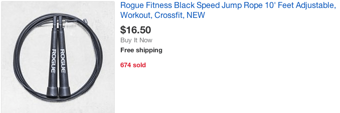 rogue fitness discount jump rope