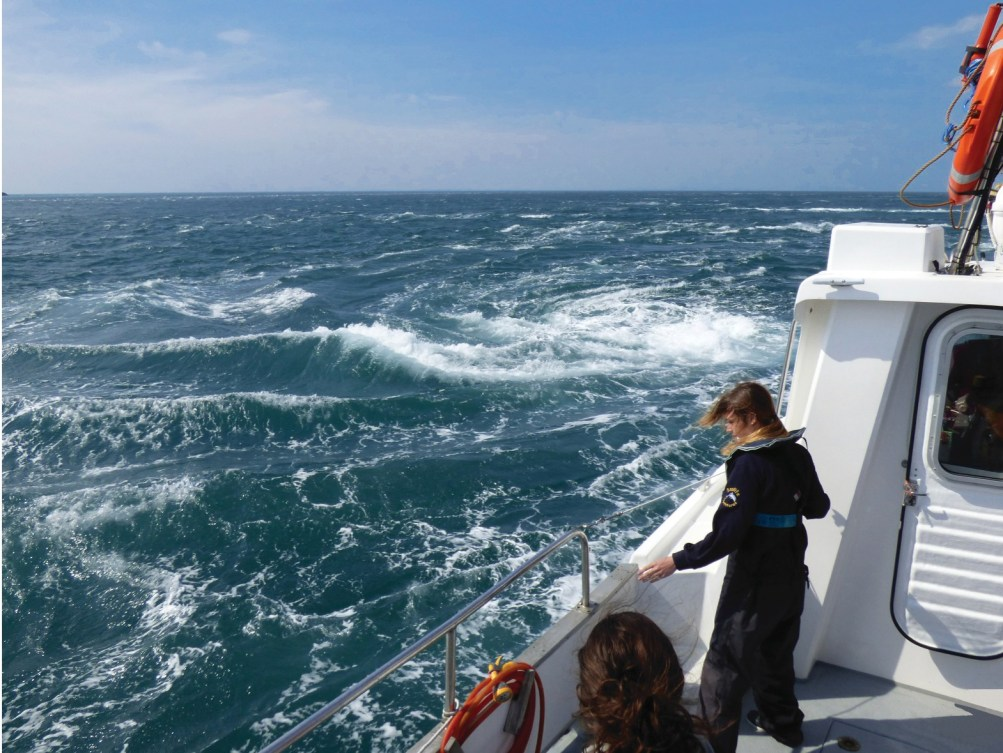 the infamous corryvreckan whirlpool on a boat trip near Scotland