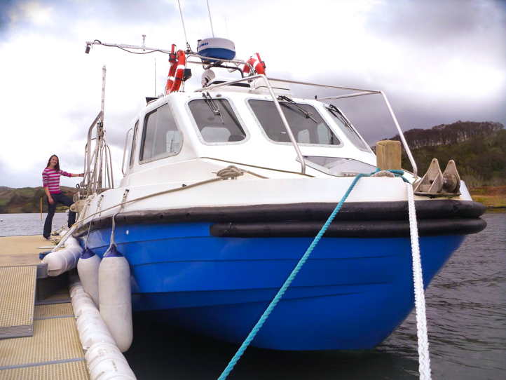 Convenient wheelchair access onto Sealif Adventures boat near to Oban