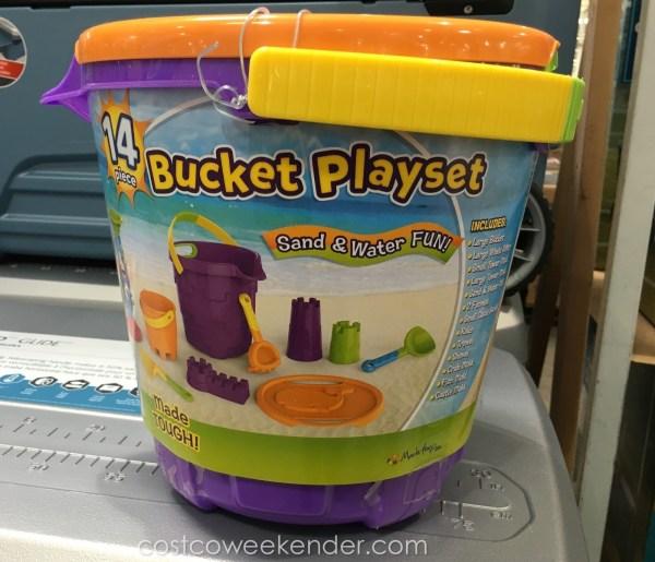 14 Piece sand bucket