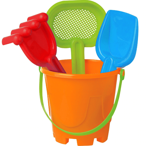 Sand toys in a bucket