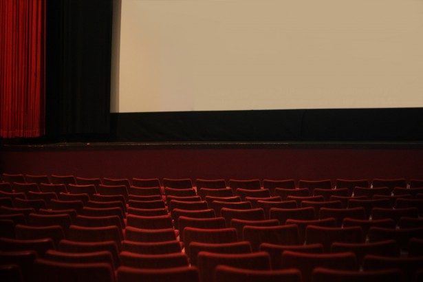 A simple movie theater image that represents our portfolio page, a library of stories we have told.