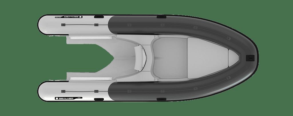 Sealver, waveboat, wave boat, wb 626, 6m, jetboat, bateau jetski, vue de haut, plan de pont, upper view, deck view, rib, semi-rigide, semirigid,