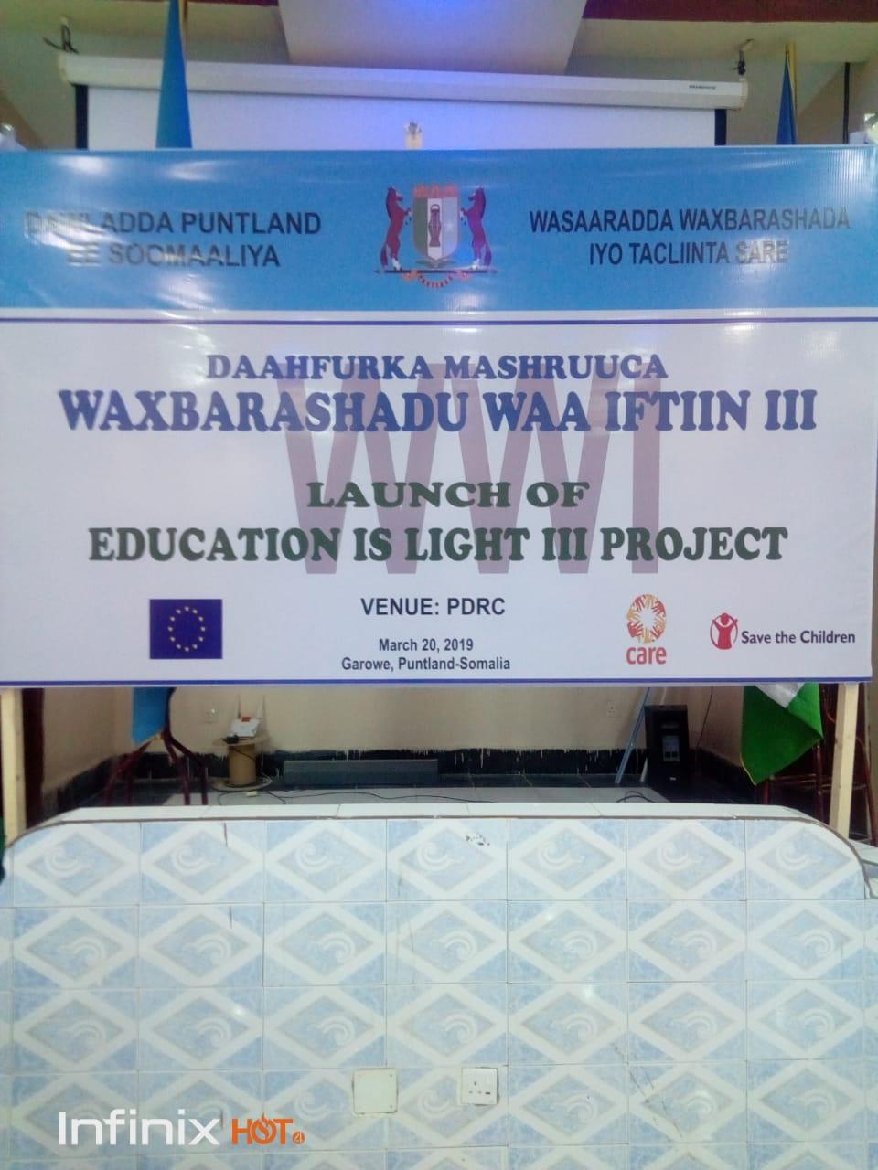 Launch of Education for Light III Project PUNTLAND SOMALIA Puntland 2