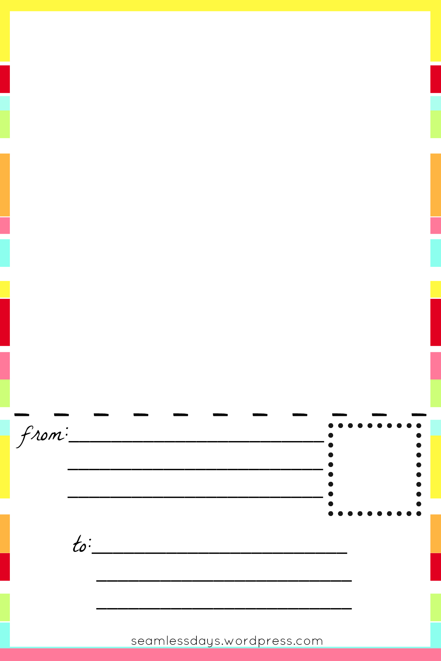 Free Printable Blank Postcards For Kids