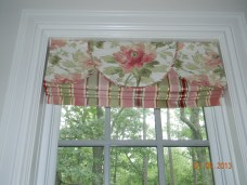 Bathroom roman shade and valance 2012