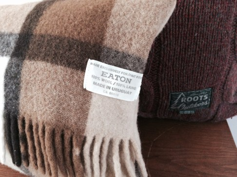 Recently upcycled from Eaton's wool blanket made in Uruguay 2015