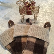 Top cuffs on wool stockings reclaimed sweater knit