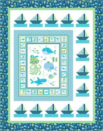 Sail Away quilt pattern featured by top US quilting blog and shop, Seams Like a Dream Quilt Designs