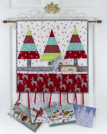 Tannenbaum Trio Wall Hanging pattern by Kate Colleran
