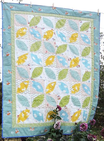 5 Fast and Easy Scrap Quilts you Can Do While at Home featured by top US quilting blog and shop, Seams Like a Dream Quilt Designs: Little Leaves- a Fram Fresh series quilt pattern by Kate Colleran and Alyssa DesRosier