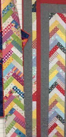 A long braid section done! Sweet fabrics!