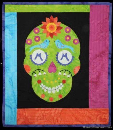 sugar skull quilt block