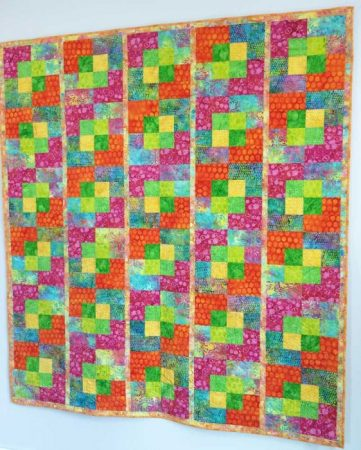 Island batik quilt