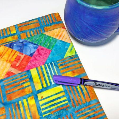 batik notebook cover
