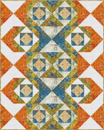 In and Out, a quilt design by Kate Colleran