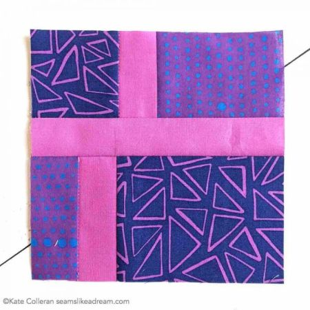 modern block in purple