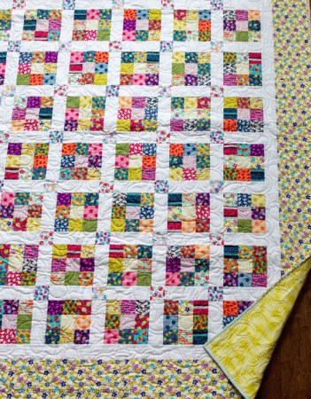 Nine Patch Quilt Block Tutorial featured by top US quilting blog and shop, Seams Like a Dream Quilt Designs