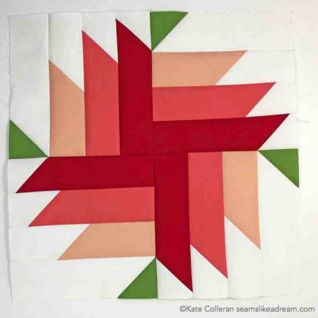 Adventure Quilt Along Project block 3 featured by top US quilting blog and shop, Seams Like a Dream Quilt Designs: Roadside Bloom Block 3 Adventure Quilt