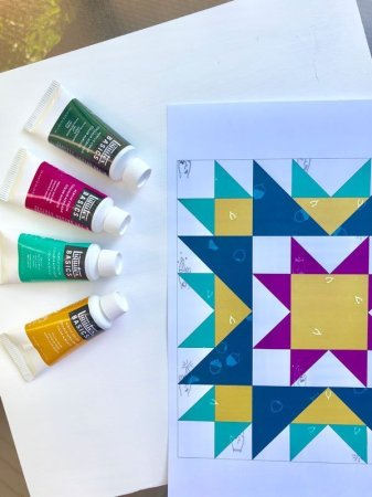 Tula Pink City Sampler and a Painted Quilt Block