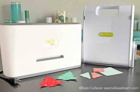 Exploring the Basics: Fabric Die Cutting featured by top US quilting blog and shop, Seams Like a Dream Quilt Designs explores the option of die cutting fabric using the Go! cutters.