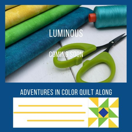 Announcing our 2020 Quilt Along by top US quilting and sewing shop, Seams Like a Dream Quilt Designs: presents a sneak peek of the new quilt Luminous!