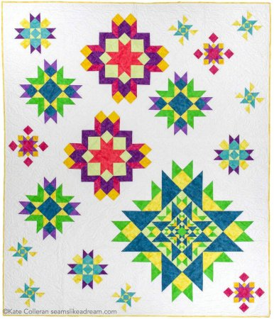 Luminous Quilt Along Project: Quilt Setting by top US quilting blog, Seams Like a Dream Quilt Designs.
