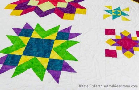 Quilt Along 2020 Project: Luminous featured by top US quilting blog and shop, Seams Like a Dream Quilt Designs: Meet the new  star quilt Luminous!