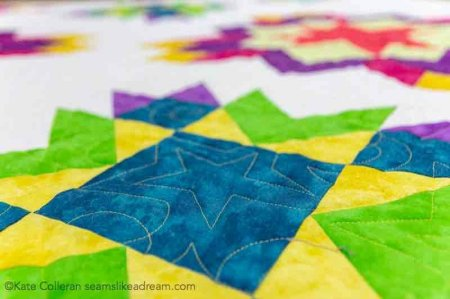 Quilt Along 2020 Project: Luminous featured by top US quilting blog and shop, Seams Like a Dream Quilt Designs: Meet the new  star quilt Luminous! An adventure in color!