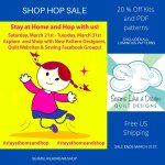Quilt Shop Hop: Stay at Home and Hop with Us: Post #1