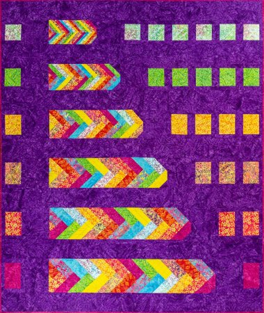 Tropical Terrace: a New Braid Quilt Pattern  featured by top US quilting blog and shop, Seams Like a Dream Quilt Design.