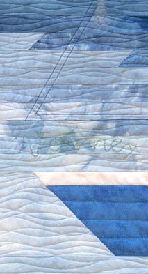 Still You- an art quilt, featured by top US quilt blog, Seams Like a Dream, shares an art quilt from the book Our Story.