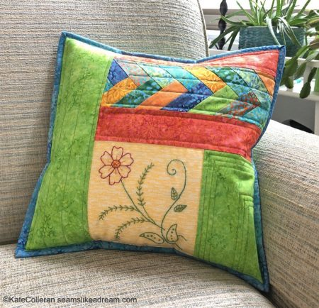 Kismet Thread Project with Aurifil Thread, to US quilting blog, Seams Like a Dream Quilt Designs, shares her project using the thread!