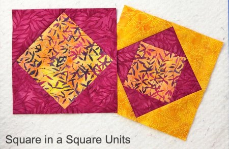 Exploring Quilting Basics: How to do the Square in a Square Technique featured by top US quilting blog and shop Seams Like a Dream Quilt Designs shares 3 ways to make the unit!