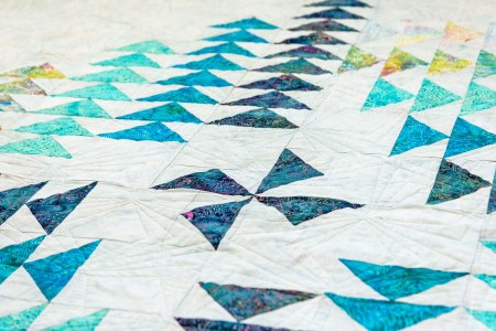 Top US quilting blog and shop, Seams Like a Dream Quilt Designs, shares about her new quilt flying geese quilt pattern, Compass!