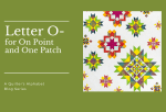 A Quilter's Alphabet: Letter O for On Point Quiltsand One Patch Quilts