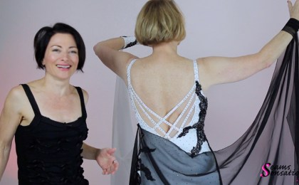 lace ballroom dance dress with Standard floats