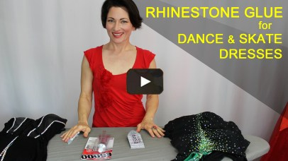 rhinestone glue for Dancesport, Country and ice skating dresses