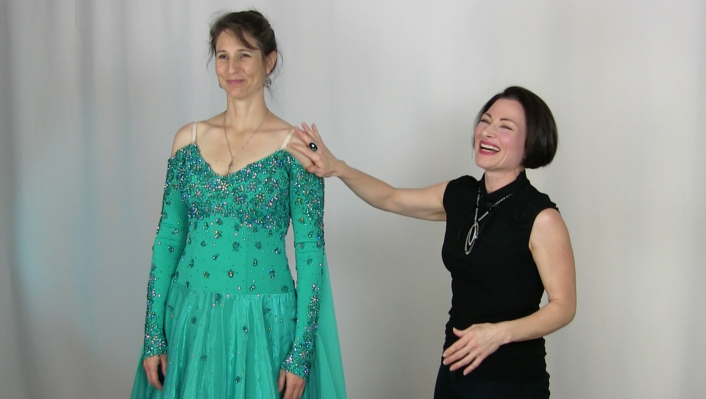 Weight loss alterations for Dancesport and Skate dresses
