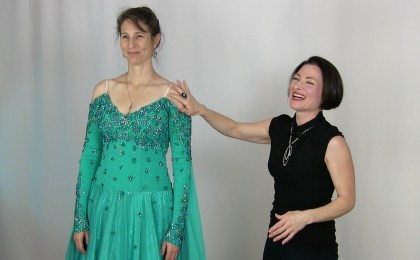 Weight loss alterations for dance costumes. lace ballroom dance dresses