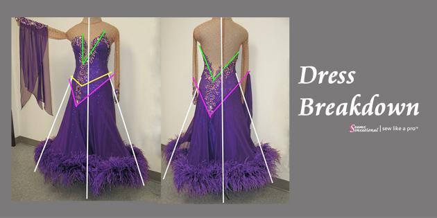 Dress Breakdown: a competition Dancesport ballgown