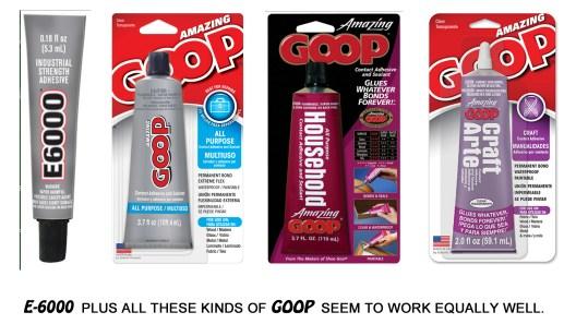 E-6000 & GOOP epoxy rhinestone glue