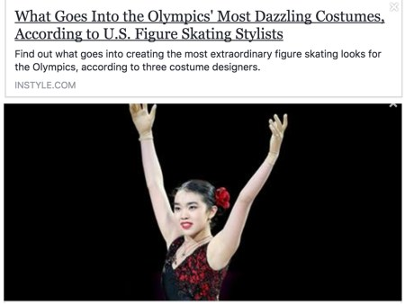 Learn to make Dancesport, Country, Figure Skating costumes, InStyle magazine, Olympics 2018