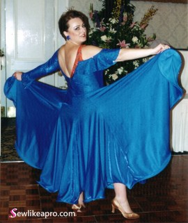what to look for when buying a used Dancesport ballgown.