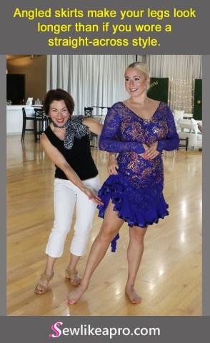 stretch lace latin dance ice dance dress